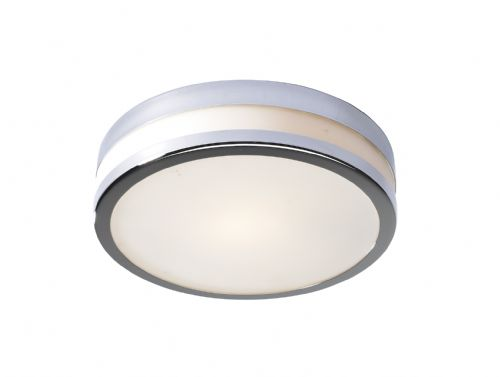 Cyro IP44 Polished Chrome Finish Large Flush Ceiling Light CYR5050 (054046)